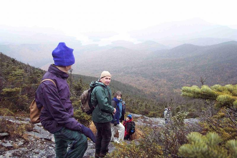 Workshop participants visit an alpine sliding fen on Whiteface Mountain. NY Heritage Files
