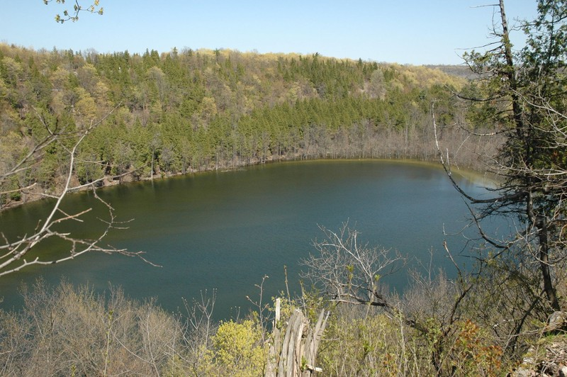 Meromictic Lake at Clark Reservation State Park